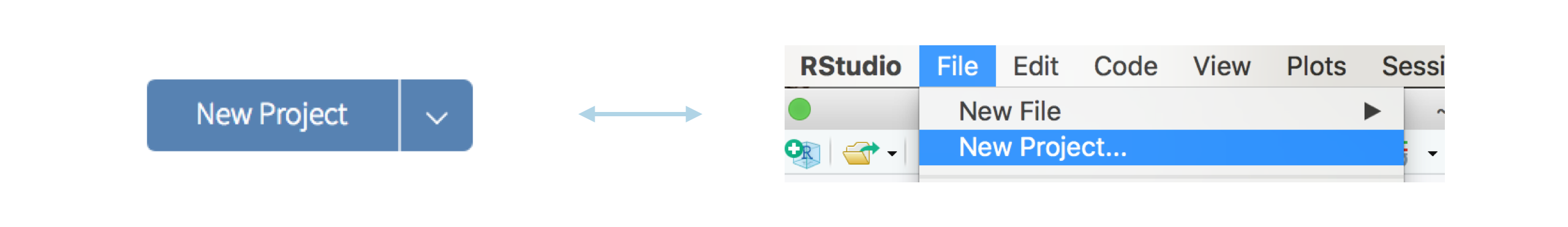 A new project in RStudio Cloud is a new project in the RStudio IDE